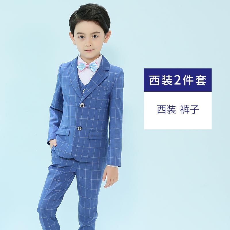 儿童小西装套装花童男童礼服时尚帅气英伦小主持人钢琴演出服男孩