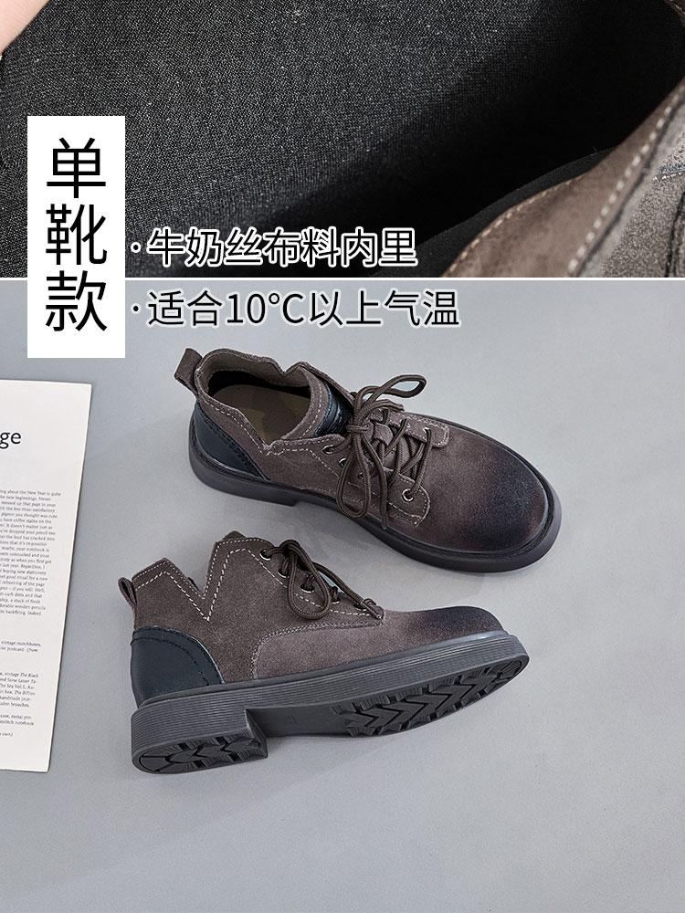 低帮马丁靴女2019春秋新款帅气显瘦女靴配裙子穿的靴子英伦风短靴