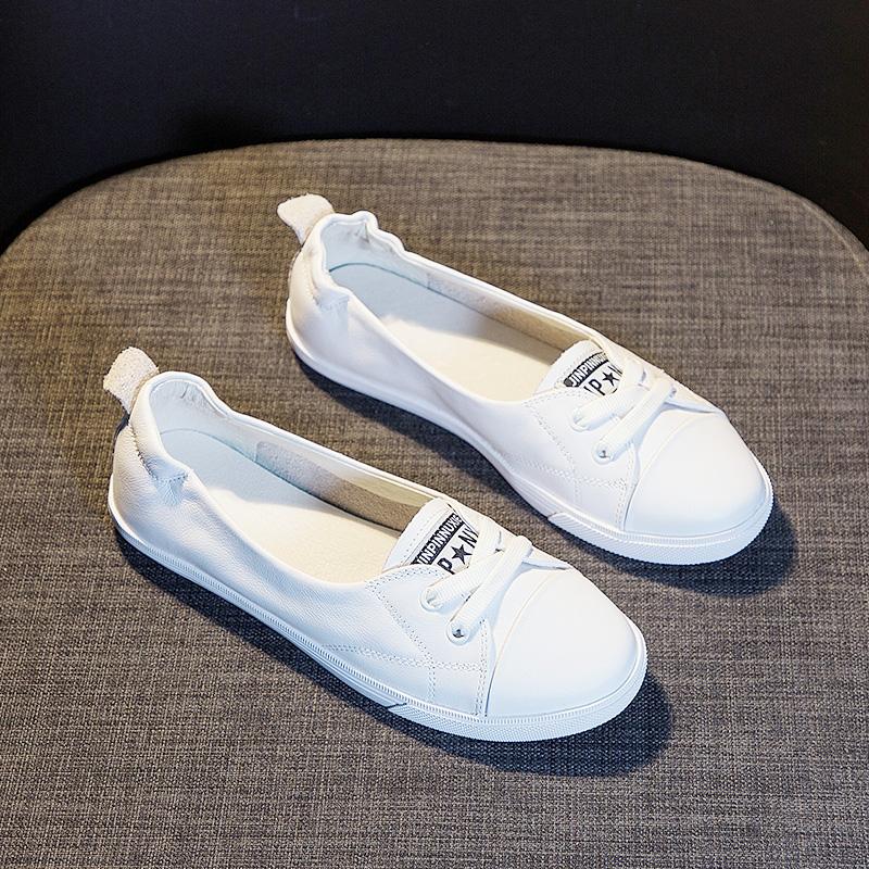 夏天小白鞋女2020新款百搭透气网鞋小黑船鞋大码护士松紧网面单鞋