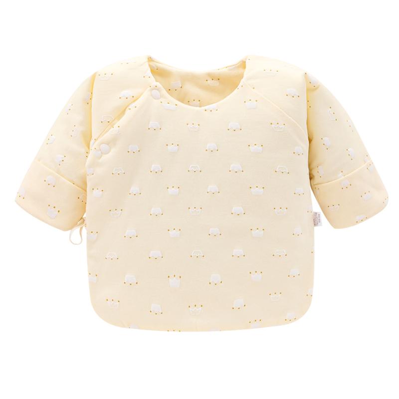新生婴儿半背衣春秋冬初生0-3月保暖衣服宝宝纯棉和尚服夹棉上衣