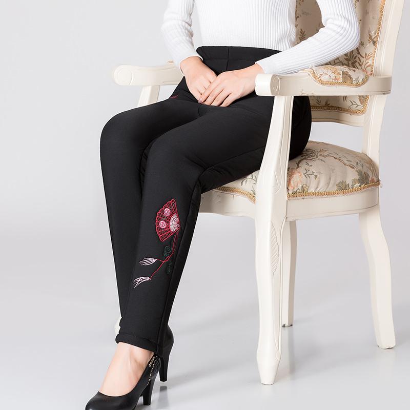 中老年女裤加绒加厚秋冬装保暖棉裤外穿中年长裤女冬季妈妈款裤子